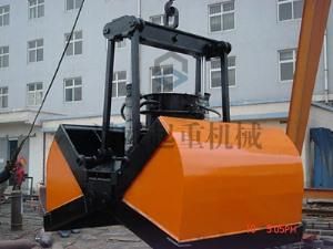 Electric hydraulic double Flap grab